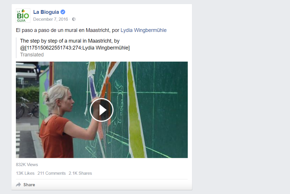 La Bioguia also shared the video on their Facebook page.