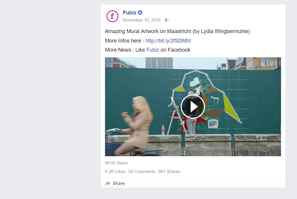 Creative new outlet Fubiz shared the video on their Facebook page.